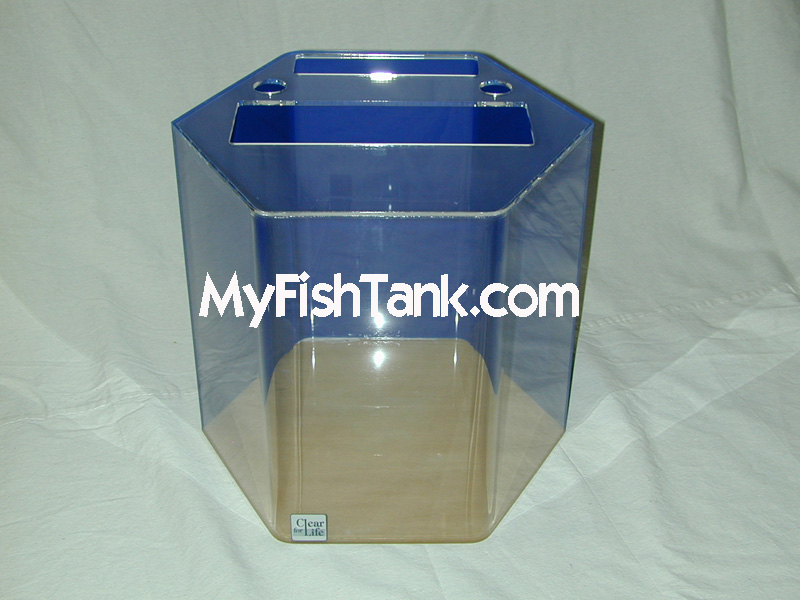 Acrylic aquariums fish tanks hexagon 12 to 95 gallons for Acrylic vs glass fish tank