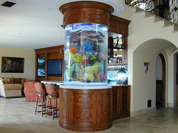 460 Gallon Cylinder Marine Fish Tank Aquarium Design